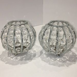2✨Z Gallerie sparkling Candle holders✨Like New✨